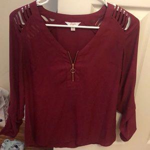 Dark pink zip dress shirt!